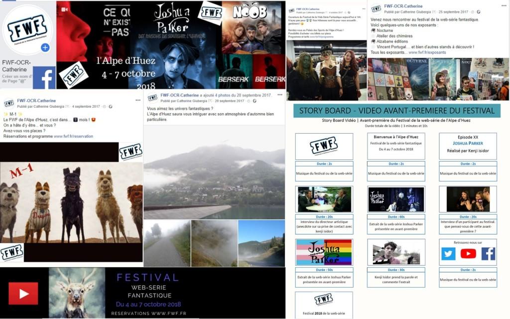 Animation réseaux sociaux Festival de la Webserie fantastique