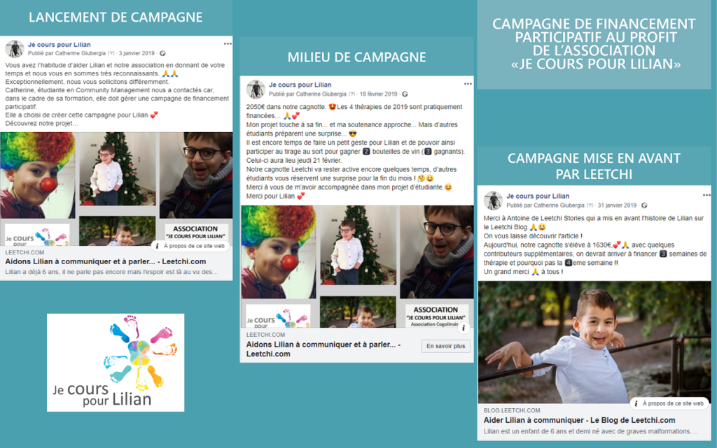 """Campagne de Financement Participatif """"Je cours pour Lilian"""""""