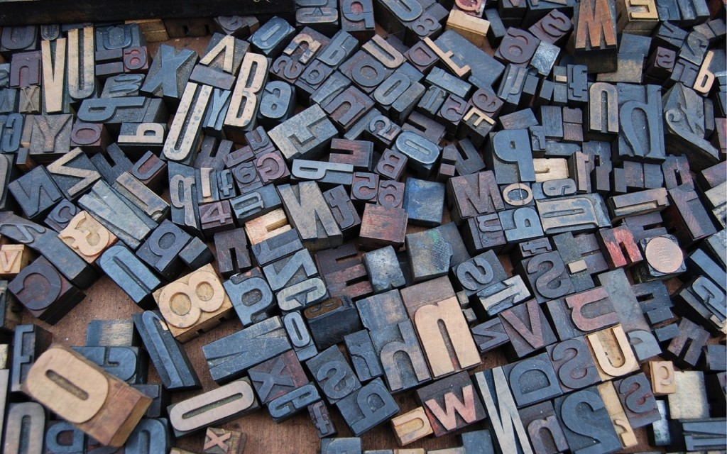 Article Typographie - Lettres